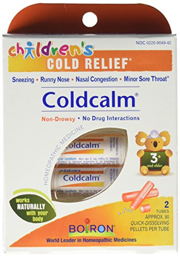 Boiron Children's Coldcalm, 1 Pack (2, 80-Pellet Tubes), Homeopathic Medicine for Cold Relief