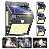 Luz Solar Exterior,Innosinpo【2021 Ultimo Modelo 4 Pack 216 LED】Focos Solares Exterior con Sensor de Movimiento,Luces...