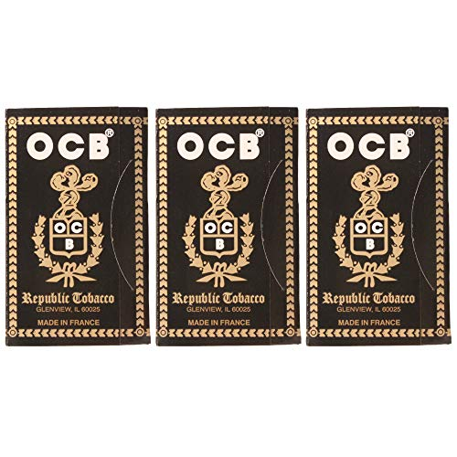 OCB Ungummed Single Wide Rolling Papers (3 Pack) - 450 Papers Total