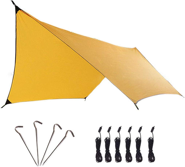 Pink dayus Hammock Sky Screen MultiFunction Hammock Canopy RainProof Sunscreen Awning Sunshade Tent Tent MoistureProof Mat Mat 360  300CM