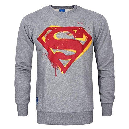 DC Comic Superman Stencil Men's Sweater