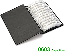 WINGONEER Capacitor 0603 (0.5pF-2.2uF) 90 Value x 50pcs = 4500pcs SMD SMT Capacitor Combo Sample Book Kit