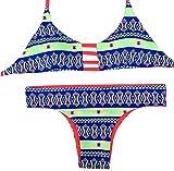 YAANCUN Donne Annata Triangolo Costumi Da Fascia Reggiseno Push-up Bikini Swimsuit Costume Da Bagno S