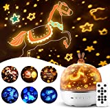 Star Projector, Baby Kids Bunny Nursery Toddler Cute Night Light Girls, Sleep Timer Music Bluetooth Battery Lullaby Lamp Bedroom Ceiling Birthday Planet Universe Dinosaur Toys - Remote