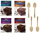 Ghirardelli Premium Brownie Mix Variety - Double Chocolate 18 oz, Triple Fudge 19 oz, Chocolate...