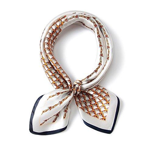 GBY dameshalsdoek, klein, vierkant, 100% mulberry zijde, halsdoek, satijn, bandana, dames, haarsjaal, sjaal, handtas, 52 cm x 52 cm