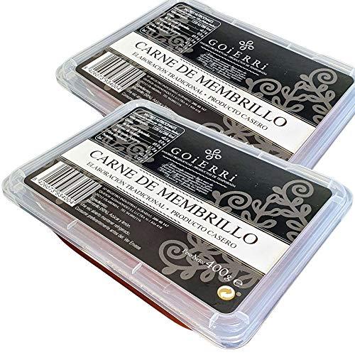Membrillo Artesano - Carne de Membrillo Tradicional Peso por Unidad 400 gramos (2 Botes Membrillo Goierri)