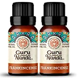 GuruNanda Frankincense Essential Oil (Pack of 2) - 100% Pure Therapeutic Grade, Natural Healing Oil for Radiant Skin and Joint Health, Use in Diffuser for an Earthy Warm Scent (15 ml x 2)