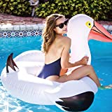 Giant Pelican Inflatable Pool Float 2020 Newest White Swan Ride-On Swimming Ring Air Mattress Summer Water Party Toy
