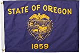 Annin Flagmakers Model 144450 Oregon Flag Nylon SolarGuard NYL-Glo, 2x3 ft, 100% Made in USA to Official State Design Specifications