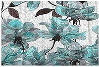 子供のための1000ピースのジグソーパズル大人の青い花バラの花柄水彩カラフルな抽象的なアレンジメント黒DIYパズルフェスティバル家の装飾