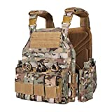 vAv YAKEDA Tactical Military Vest for Men Quick Release Outdoor Airsoft Vest Adjustable for Adults (CP Camou)