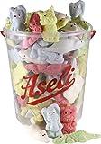 1100g Aseli Überraschungs- Mix | fruchtiger Schaumzuckermix | viele verschiedene Formen und Aromen | wiederverschließbarer 1kg Eimer | Marshmallows | Figuren handgefertigt | glutenfrei | laktosefrei