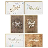 Hallmark Thank You Cards Assortment, Rustic Flowers (48 Thank You Notes with Envelopes)