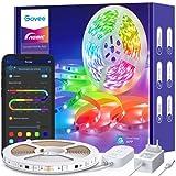 Govee RGBIC LED Strip 5m, LED Streifen Bluetooth, Musik Sync, Segmentcontrol, Farbwechsel, 64...
