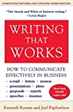 WRITING THAT WORKS 3RD /E 3/E: How to Communicate Effectively in Business