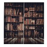 【𝐂𝐡𝐫𝐢𝐬𝐭𝐦𝐚𝐬 𝐆𝐢𝐟𝐭】2 tamaños, estantería 3D Cortinas de Cortinas de Sombra Impresas(170 * 200cm), Cortinas de sala de estar Biblioteca 3D Cortinas de sombreado impresas Cortinas de dormitori