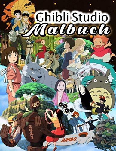 Ghibli Studio Malbuch: Ghibli Studio 2021 Anime Färbung Welt Mit Iinoffiziellen Animierte Bilder