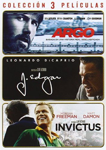 Pack: Argo + J. Edgar + Invictus (Dvd Import) [2014]