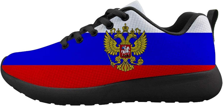 Owaheson Cushioning Sneaker Trail Running shoes Mens Womens Russia Flag National Emblem