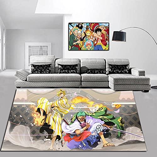 Alfombra Antideslizante Rectangular con Personalidad Creativa de una Pieza de Dibujos Animados, Sala de Estar, Mesa de café, Dormitorio, Alfombra 80 * 120 cm-A_40X60CM