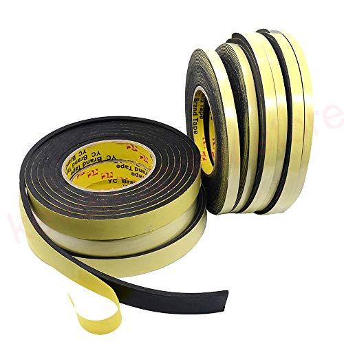 3M / 5M x 8 mm x 1 mm / 3 mm enkelzijdige zelfklevende waterdichte weersafstotende schuim spons rubberen strip tape voor raamdeur afdichtstrip, 3 mm, 35 mm