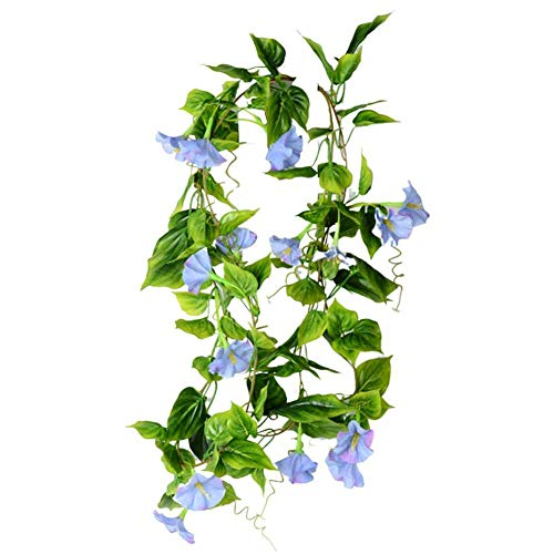 XHCP Artificial Flower Vine-Wall Hanging Garland Wreath Wedding ,Petunia Morning Glory Decoration,Mini Garden for Home Wedding