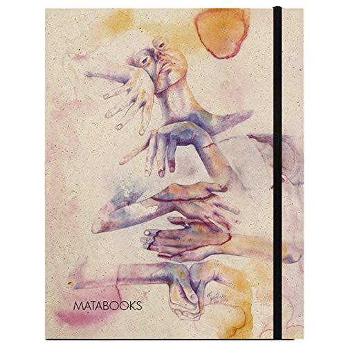 Matabooks, nachhaltige und vegane Notizbücher A5 aus Graspapier, Swiss Brochure, 144 blanko Seiten, Natur, Handmade, Made in Germany (Eingeklemmt)