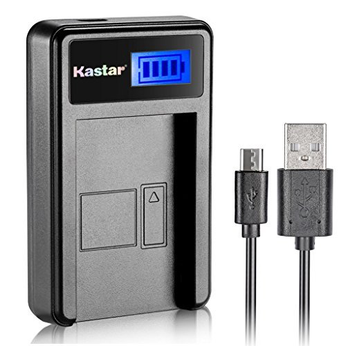 Kastar Compatible Battery and LCD USB Charger Replacement for Nikon EN-EL19 MH-66, Sony NP-BJ1 and Nikon Coolpix A100 S2700 S3500 S3600 S3700 S5200 S5300 S6600 S6700 S6800 S6900 S7000, Sony DSC-RX0