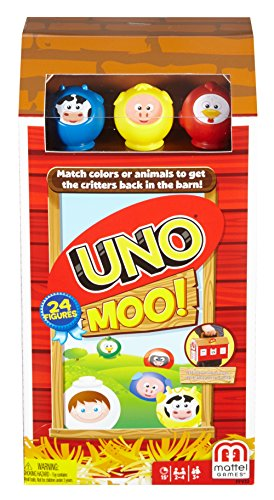 Mattel Games Uno Moo Card Game