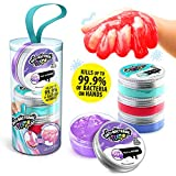 Antibacterial Slime DSM 008UK Pots 4 Pack, Assorted