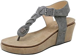 TAOFFEN Women Fashion Sandals Wedges Heels Clip Toe