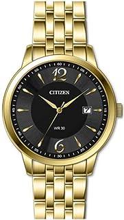 ساعة سيتزن للرجال كوارتز مع سوار ستانلس ستيل ,مينا سوداء -DZ0032-59E