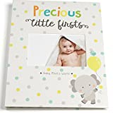Baby Memory Book for First Year to Five, Record Each Milestone from Your Child in a Keepsake Journal, for Boys and Girls, Modern Photo Album and Baby Shower Guestbook, with 20 Baby Monthly Stickers