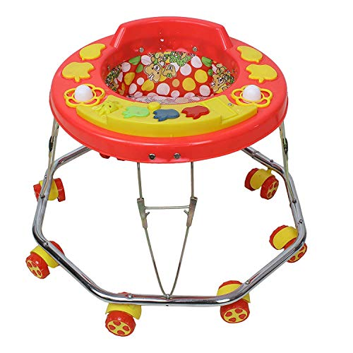 woxwell Baby Double Horn with Music Walker (in Many Multi Colours)
