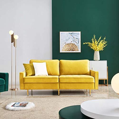 Sangda, divano a 2 posti, moderno in velluto elasticizzato, in velluto, per soggiorno, reception, camera da letto, ufficio, dormitorio