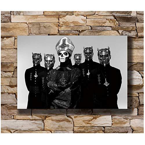 Ghost - Zweedse Heavy Metal Band Muziek Muuraffiche Art Canvas print op canvas Decoratie Cadeaus voor ouders en vrienden -50x75cm Geen lijst