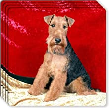 Canine Designs Welsh Terrier Rubber Coasters Set of 4