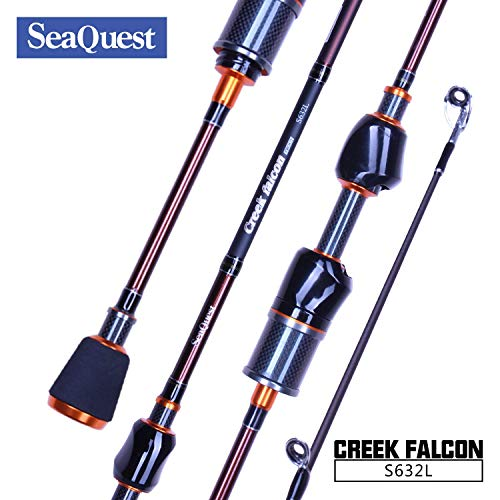 Seaquest 2-Piezas Caña de Pesca Spinning Rod de Fibra de Ca