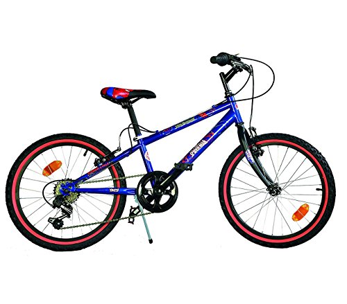 Mediawave Store Bicicletta Spiderman Ultimate Mountain Bike 420 U-13SA Misura 20 età 6-9 Anni
