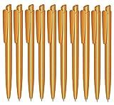 Libetui 10 Stück Kugelschreiber Gehäuse Orange glänzend Mine Blau für Büro und Haushalt Gehäuse blauschreibend Gehäuse Orange