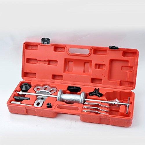 Automotive Slide Hammer Puller Set | Steel T-Handle | Chrome Vanadium Steel Attachments | 17-Piece Set
