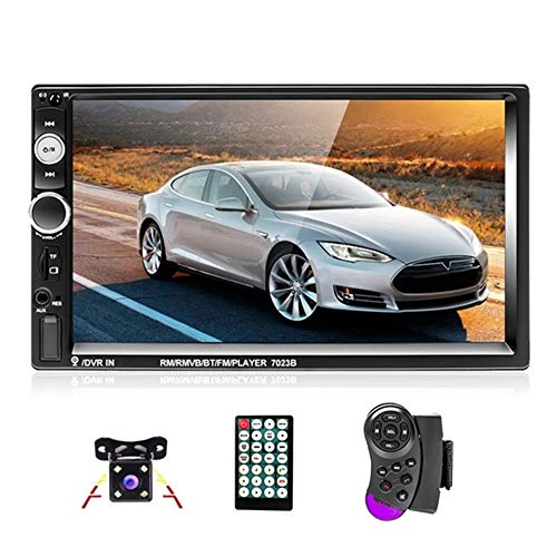 podofo 2 Din Car Stereo Autoradio Bluetooth Player MP5 Touchscreen in Dash Digital Display Bluetooth Multimedia Kfz Radio FM AUX USB SD Funktion mit Lenkradsteuerung