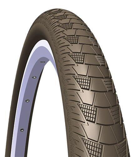 Rubena/Mitas Cityhopper X1Pieghevole Flatland per BMX, Unisex, 5-10952443-042, Brown, Size 28 x 2.00
