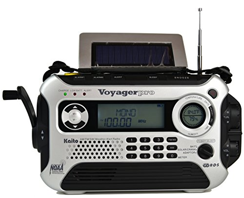 Kaito KA600L 5-Way Powered Emergency AM/FM/SW NOAA Weather Alert Radio with Solar,Dynamo Crank,Flashlight and Reading Lamp, Digital Radio with Larger Battery and Solar Panel (Silver)