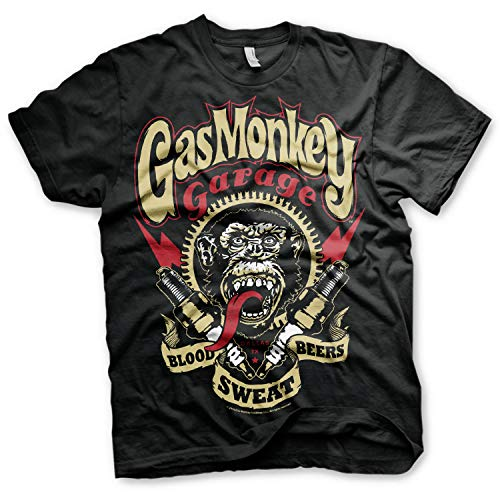 Gas Monkey Garage Officially Licensed - Custom Hot Rods T-Shirt Camiseta T Shirt GMG - 100% Oficial (X-Large)