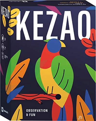 Kezao - Jeu de Cartes coloré et Amusant avec dés - Rapidité et Observation - Jeux de société Famille et Enfant