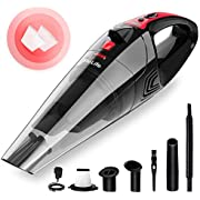 VacLife Handheld Vacuum, Hand Vacuum Cordless with High Power, Mini Vacuum Cleaner Handheld Powered by Li-ion Battery Rechargeable Quick Charge Tech, for Home and Car Cleaning, Wet & Dry(Red)