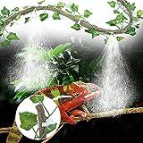 SALUTUYA Tiene la función de Enfriar y Eliminar el Polvo de la decoración de la Caja de Reptiles para el Tanque de(3m Suit + 2 Creeper Leaves)