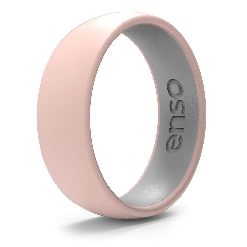 Enso 戒指双色硅胶戒指  优质时尚正向硅胶戒指  低*性*级硅胶  终身质量*